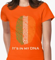 I'm Irish, It's in my DNA! Womens Fitted T-Shirt