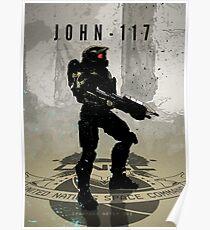 Heroes of Gaming - John 117 Poster
