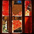 The red-painted, broken Window.......... by Imi Koetz