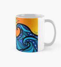 swirling waves Mug