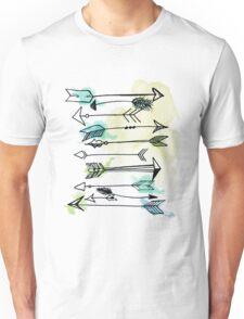 """Courage"" Watercolor Arrow Artwork Unisex T-Shirt"