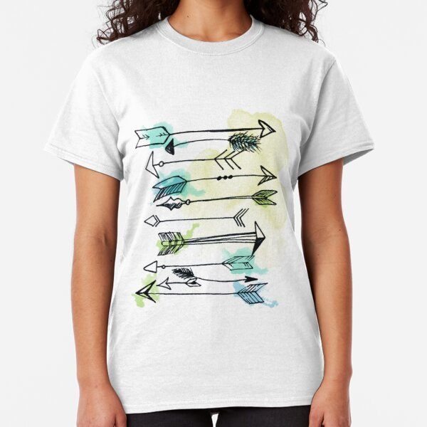 """Courage"" Watercolor Arrow Artwork Classic T-Shirt"