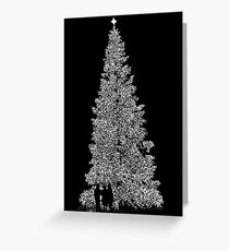 A Black And White Christmas Greeting Card