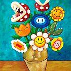 Mario Van Gogh's Flower Vase by Katie Clark