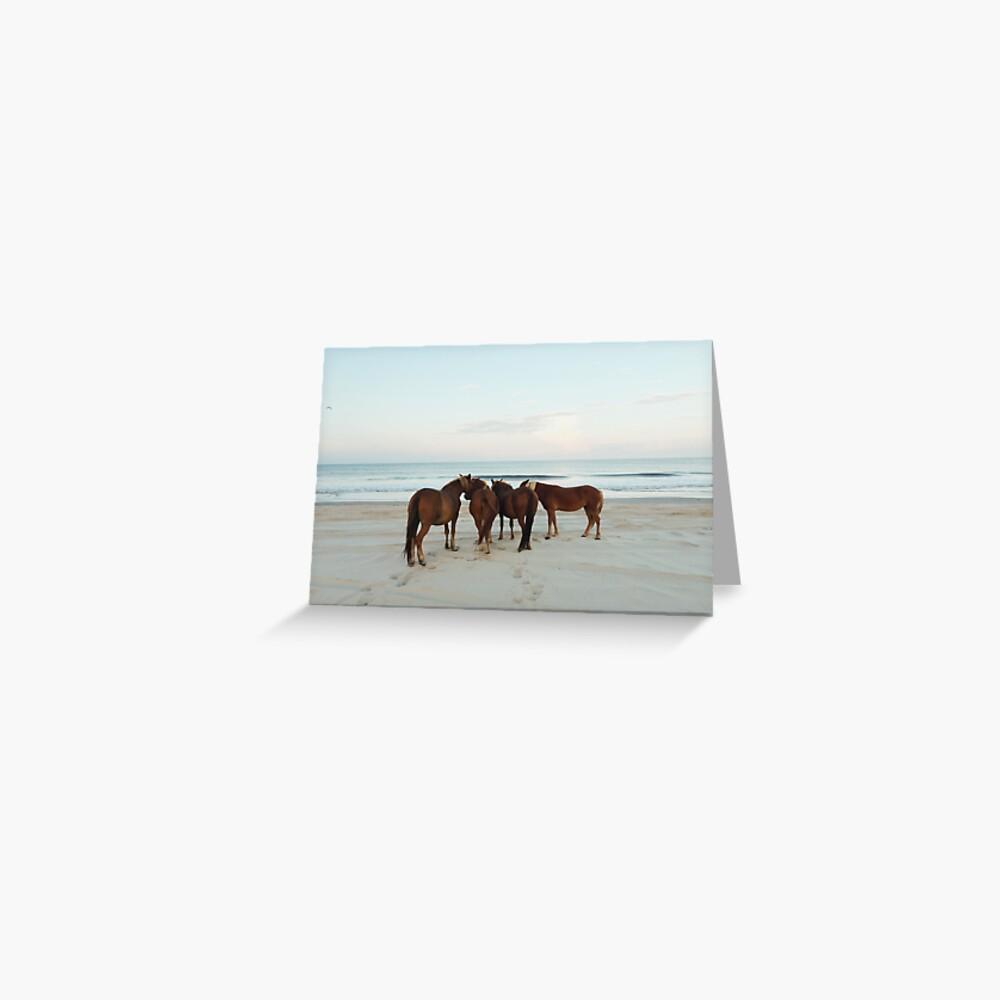 Coastal Horse Meeting Greeting Card