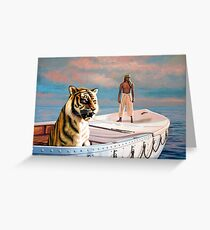 Life Of Pi Painting Greeting Card