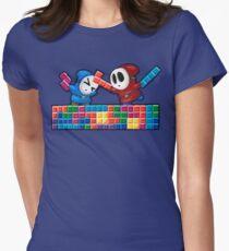 Shy Guys Playing Tetris Women's Fitted T-Shirt