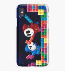 Shy Guys Playing Tetris iPhone Case
