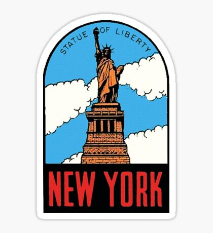 Statue of Liberty New York Vintage Travel Decal Sticker