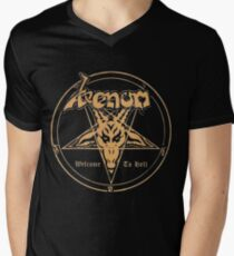 Venom band- Welcome to Hell Men's V-Neck T-Shirt