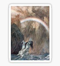 Vintage Illustration of Mermaids Sticker