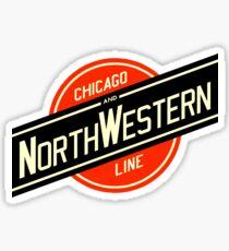 Chicago Northwestern Railroad Sticker