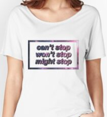 Game Grumps - Can't Stop Won't Stop Might Stop Women's Relaxed Fit T-Shirt