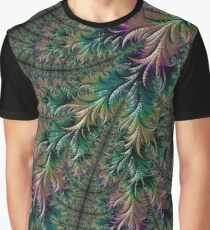 Iridescent Feathers Fractal Art Graphic T-Shirt