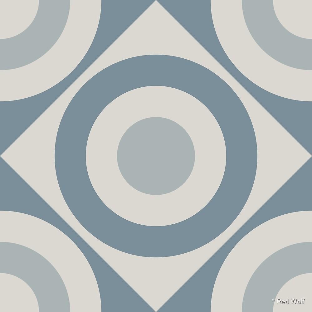 Geometric Pattern: Rondel Diamond: Bluestone by * Red Wolf