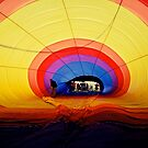 Inside The Hot Air Balloon Mildura Victoria by Ronald Rockman