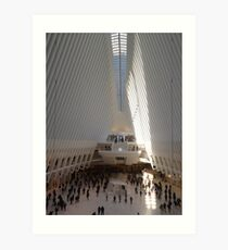 World Trade Center Transit Hub Oculus, Lower Manhattan, New York City Art Print