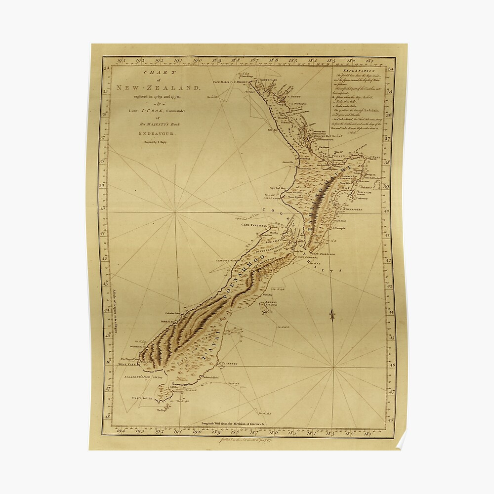 New Zealand 1770 Poster