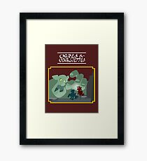 Ogres and Oubliettes - white text Framed Print