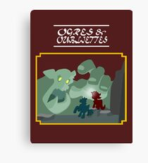 Ogres and Oubliettes - white text Canvas Print