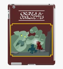 Ogres and Oubliettes - white text iPad Case/Skin