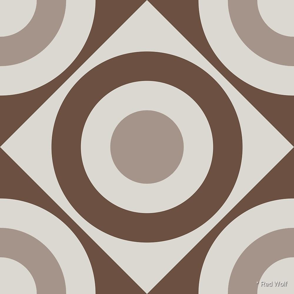 Geometric Pattern: Rondel Diamond: Brownstone by * Red Wolf