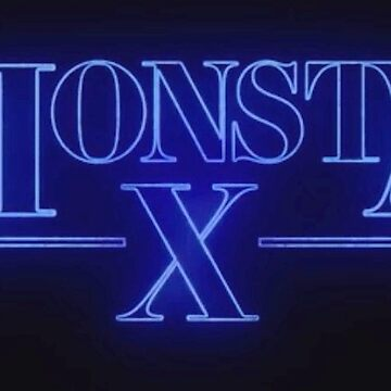 Monsta x - Stranger Things Logo by bballcourt