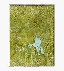 Map of Yellowstone 1898 Photographic Print