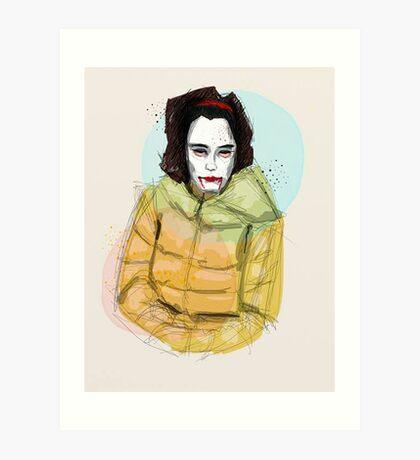 Ms Scary Art Print