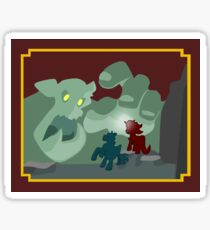 Ogres and Oubliettes - white text Sticker