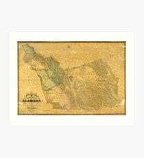 Map of Alameda 1857 Art Print