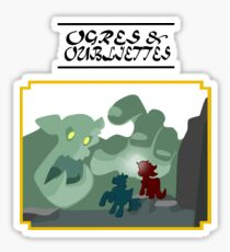 Ogres and Oubliettes - black text Sticker