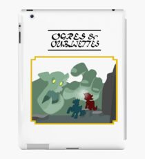 Ogres and Oubliettes - black text iPad Case/Skin