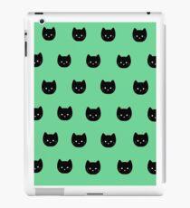 Cute Black Kitten Print iPad Case/Skin
