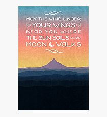The Sun Sails and the Moon Walks Photographic Print