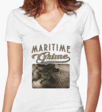 Marigrime Women's Fitted V-Neck T-Shirt