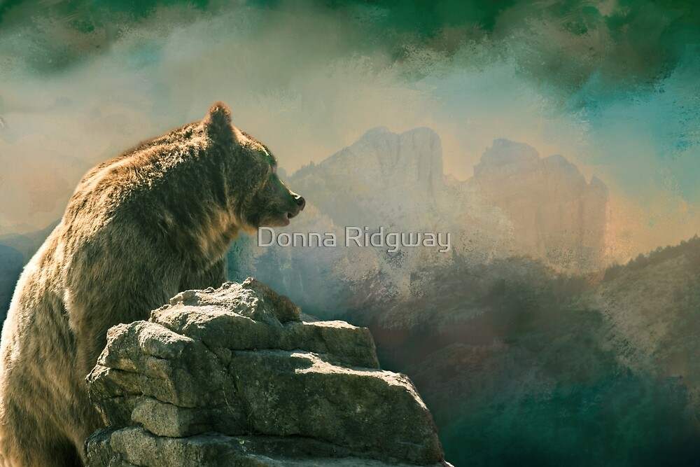 I'm Goin' Over There, Montana Grizzly by Donna Ridgway