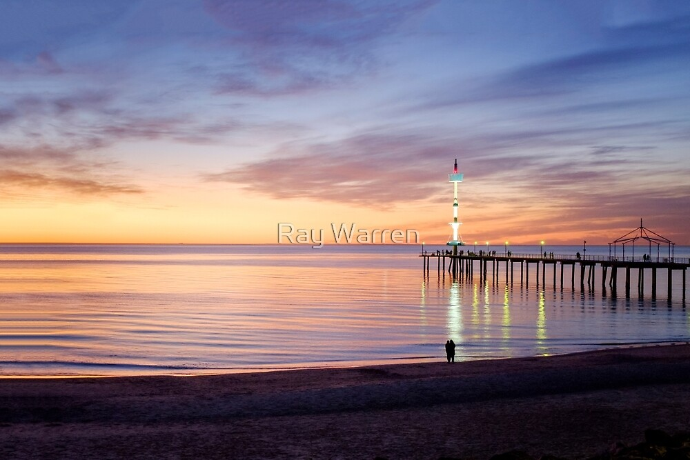 Brighton Beach Sunset by Raymond Warren