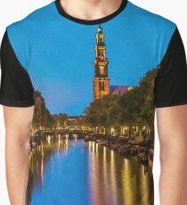Amsterdam - Oil Paint Art Graphic T-Shirt