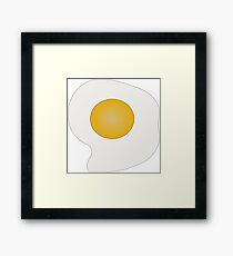 Breakfast egg food fried Framed Print