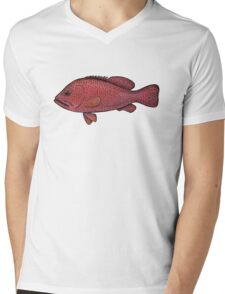 Red Sea Coral Grouper Mens V-Neck T-Shirt