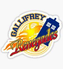 Gallifrey Renegades! Sticker