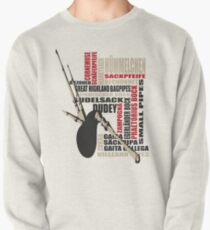 Sackpfeifen Textwolke Pullover