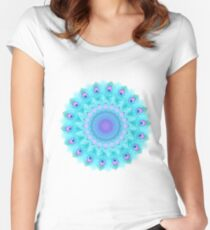 Peacock feathers mandala Women's Fitted Scoop T-Shirt
