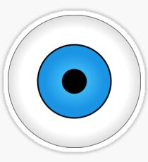 Eyes blue body face human Sticker