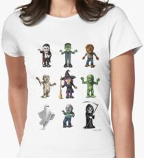 Halloween Characters Women's Fitted T-Shirt