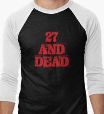 27 UND TOT Baseballshirt für Männer