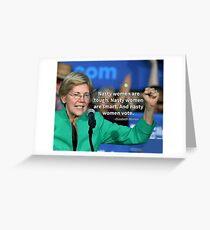 Nasty Women Vote - Elizabeth Warren Greeting Card