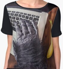 Gorilla on a Mac Chiffon Top