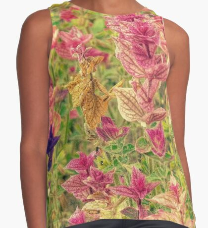 Floral Contrast Tank